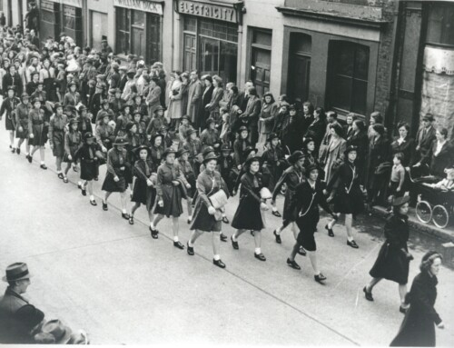 Photo: Hillhall Girl Guides on VE Day, 1945