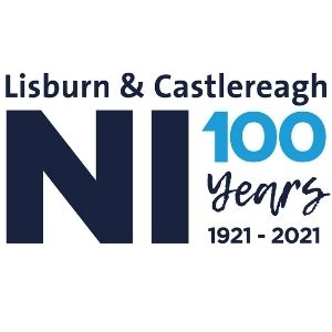 NI Lisburn Castlereagh 100 years logo