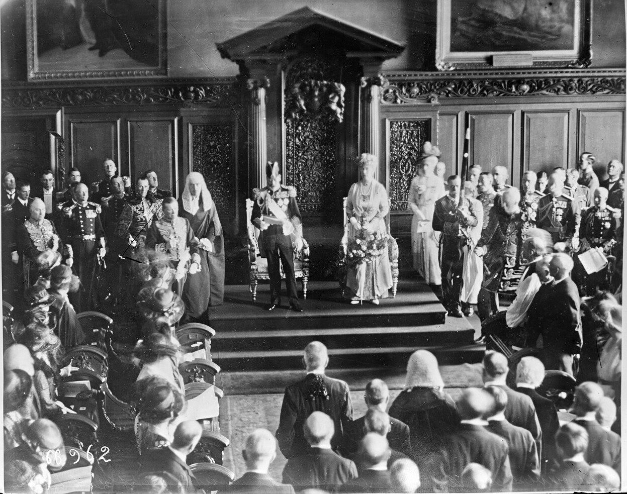 Kings George V and Queen Mary at City Hall, Belfast, June 1921