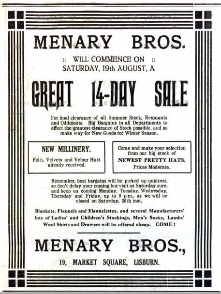 Menarys, Market Square 1922 - ILC&LM Collection