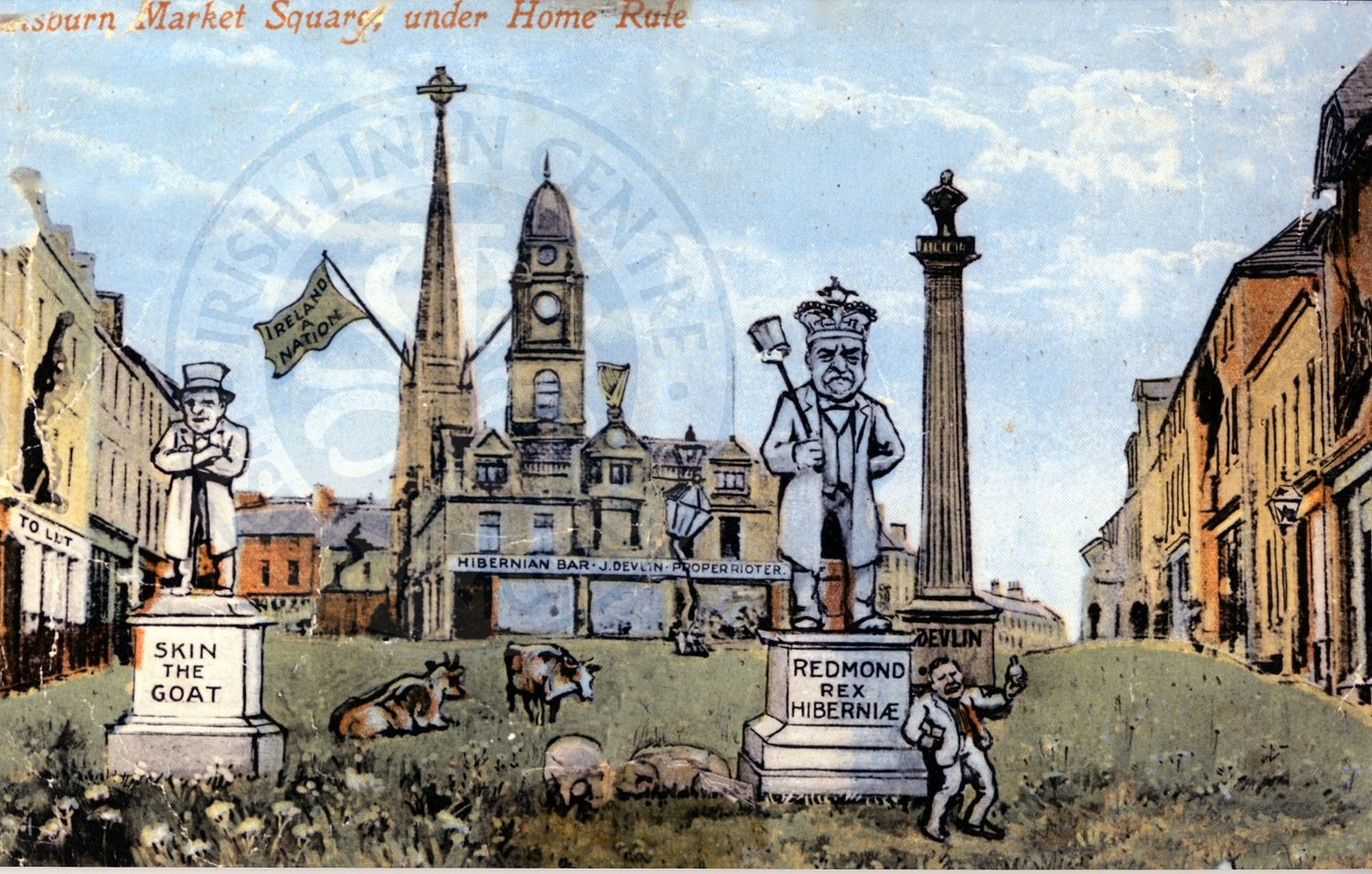Postcard - Lisburn Under Home Rule - ILC&LM Collection