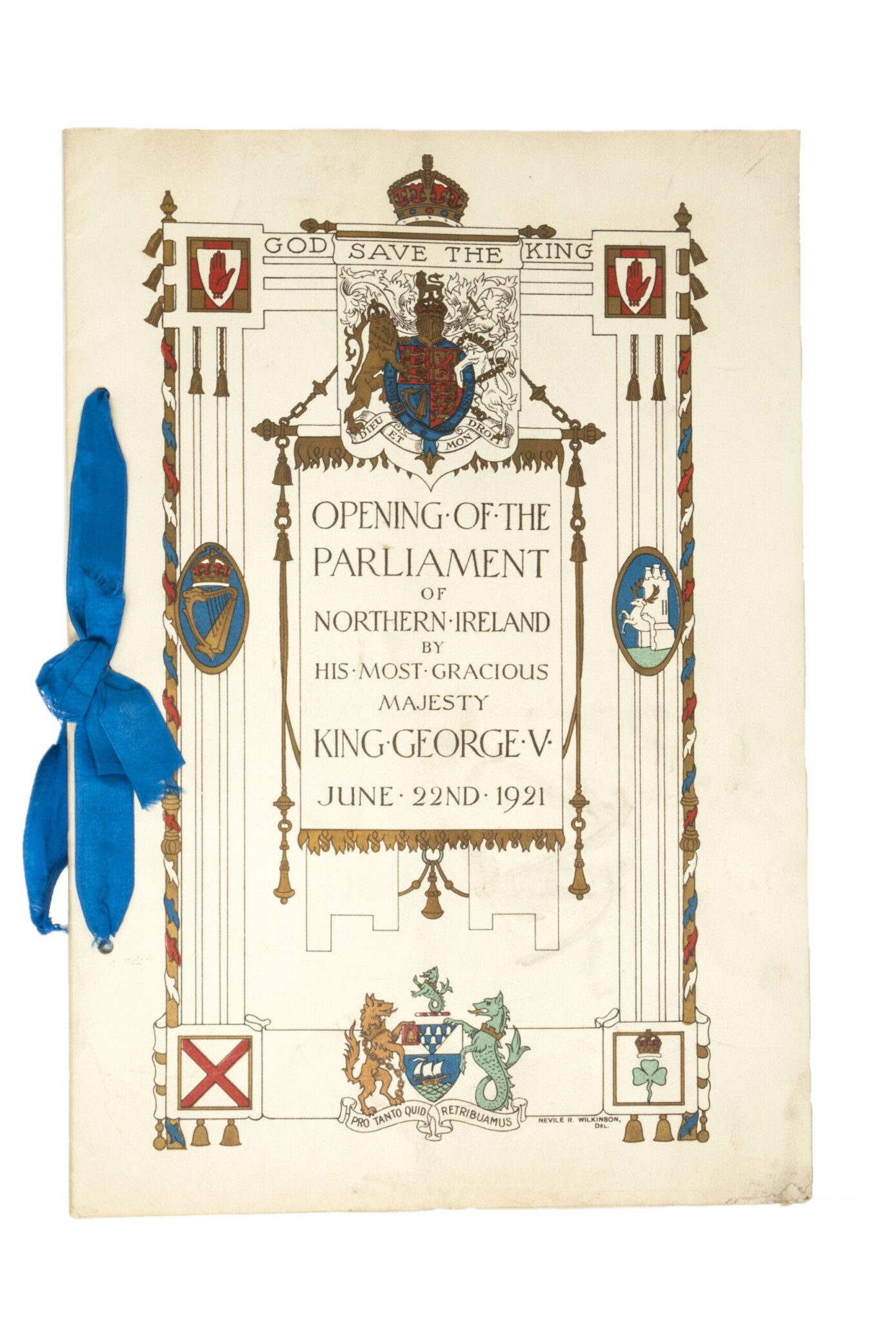 Programme, opening of the new Northern Ireland Parliament, 22 June 1921