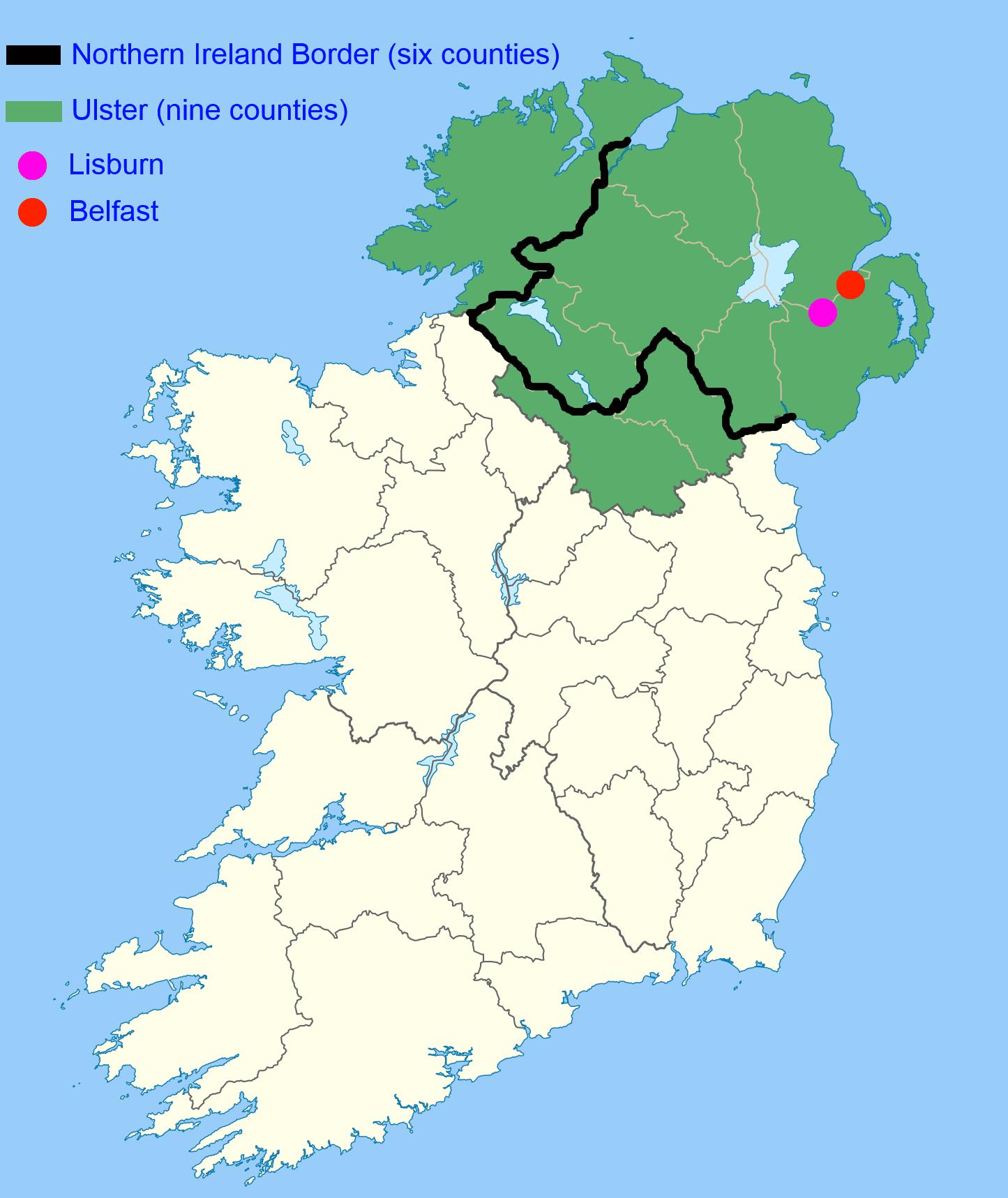 Ulster, Northern Ireland and Lisburn