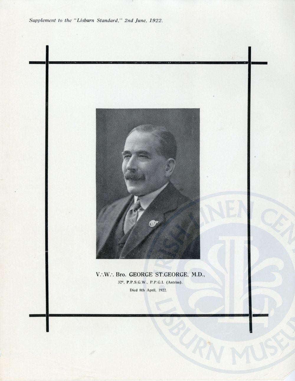 Dr George St. George, Lisburn Standard Supplement - ILC&LM Collection