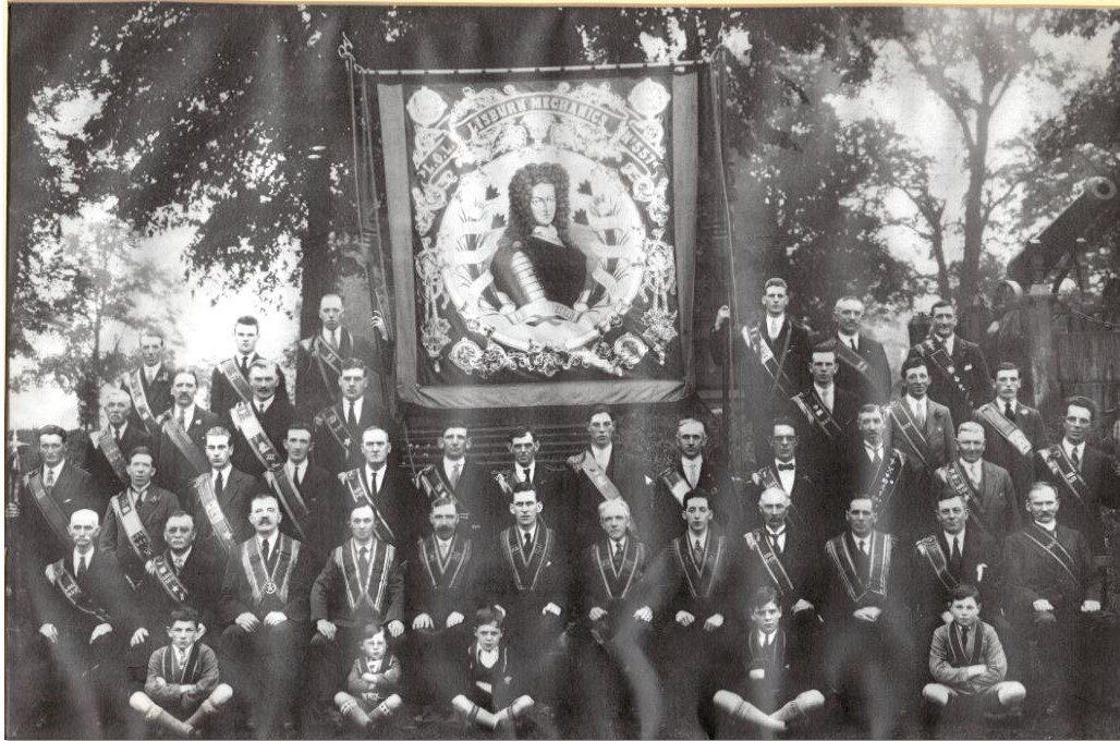 Lisburn Mechanics Banner, 12th July 1932