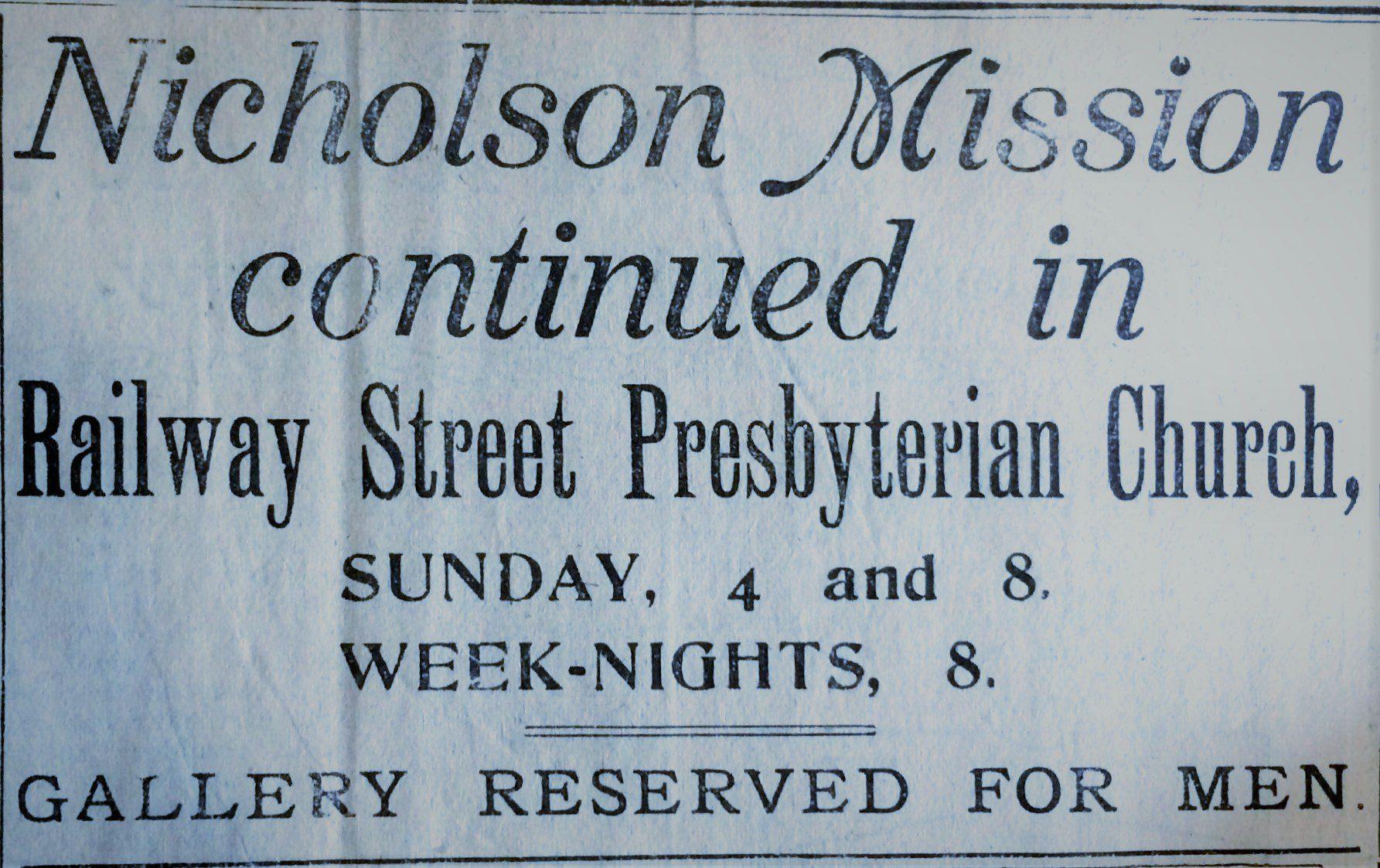 Nicholson Revival, January 1922 - Lisburn Standard