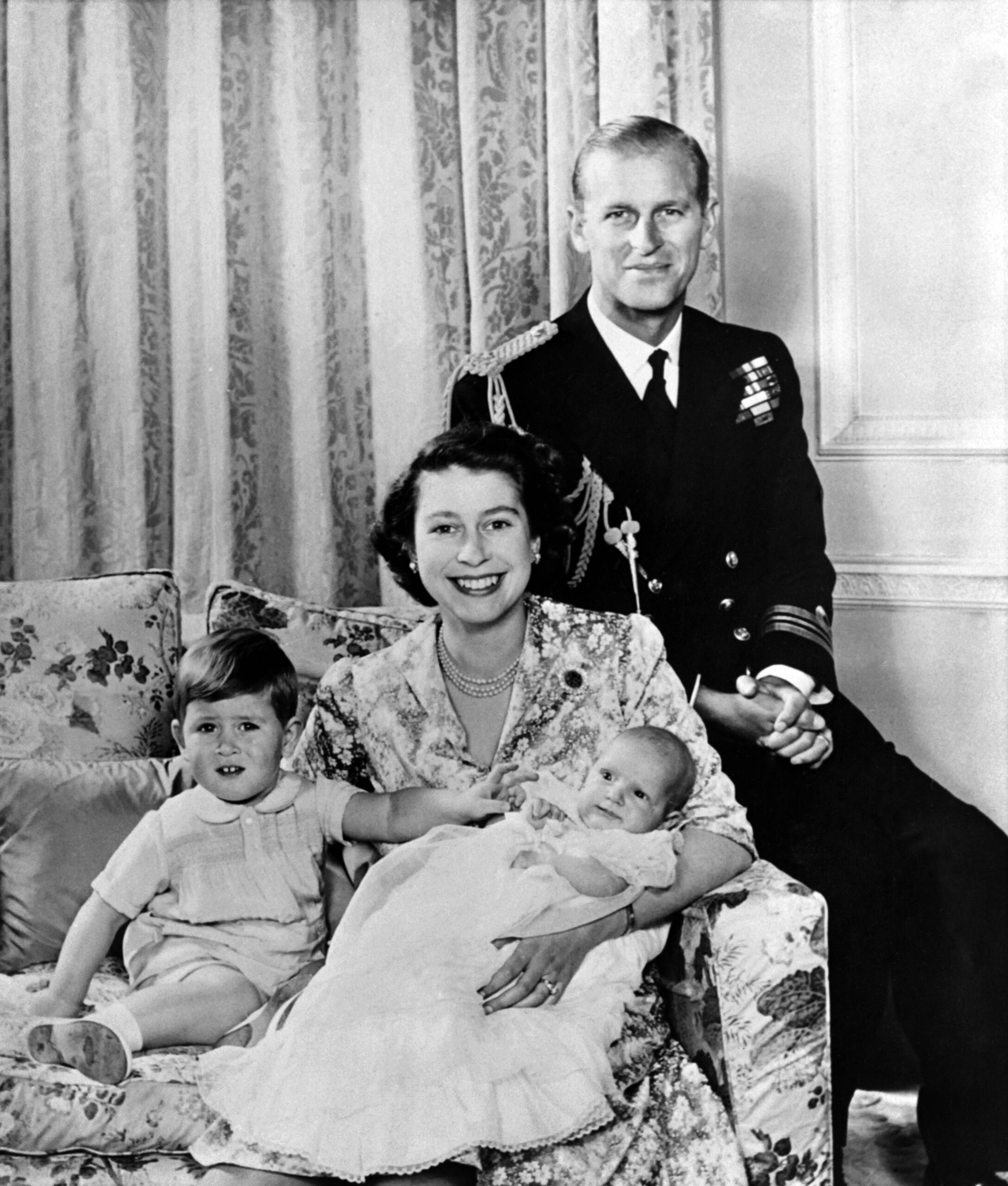 Queen Elizabeth II and Prince Philip and family, 1950