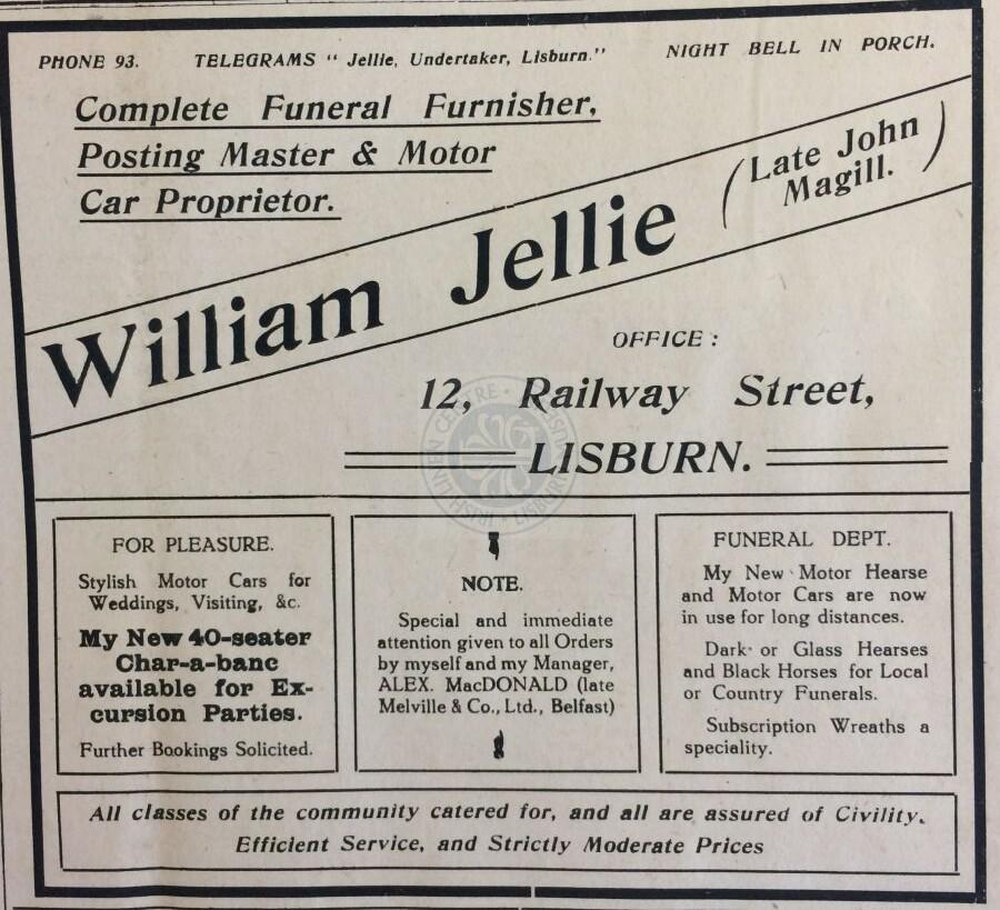 William Jellie, 1921