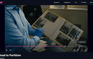 Still from BBC's Road to Partition - Lisburn Museum